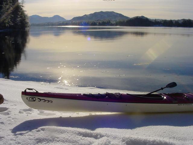 Snow paddle near Ketchikan Alaska