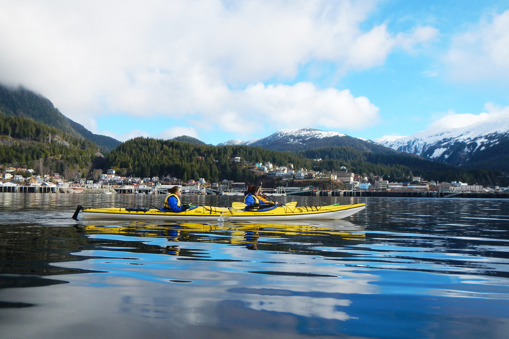 A beautiful May day for kayaking in Ketchikan.