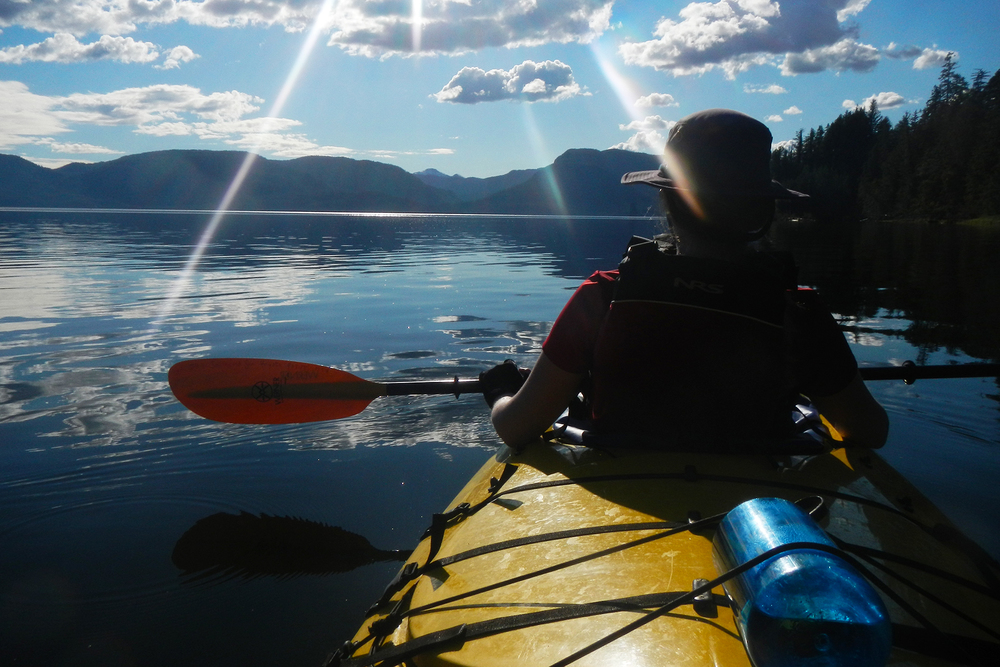 Sunshine in August. Kayaking the Misty Fjords National Monument.