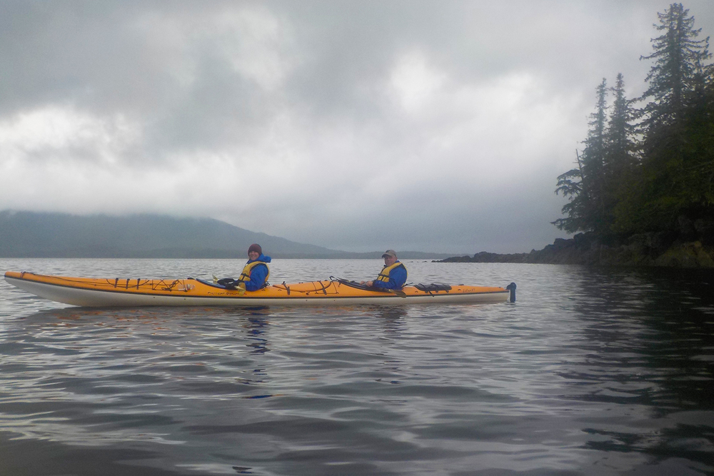 A little mist and rain don't stop us from having fun. They are part of the beauty of Southeast Alaska.