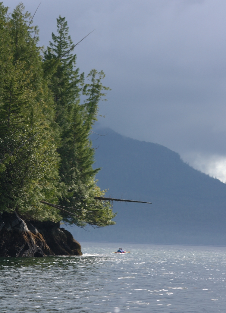 Orcas Cove is a beautiful wilderness area for kayaking, the scenery is breathtaking in any weather.