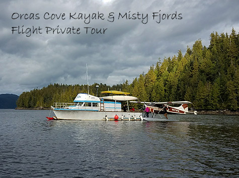 Orcas Cove Kayak and Misty Fjords Flight Private Tour 5.25 hours