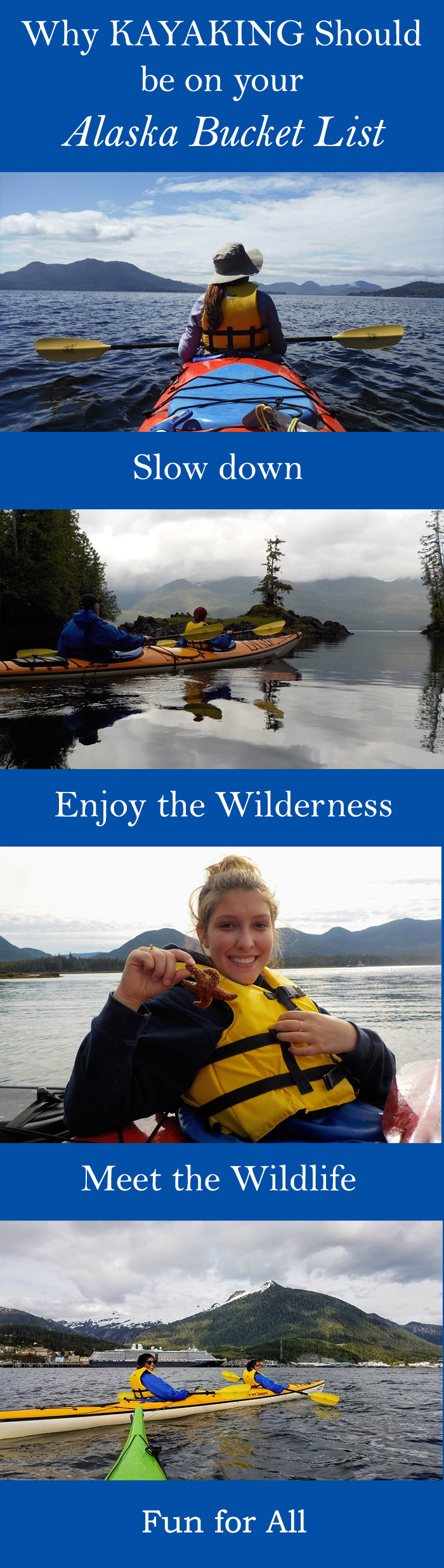 Come kayak with us in Ketchikan! It's a fabulous way to experience Alaska.