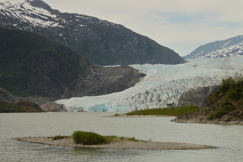Where else in the USA can you ride a bus to a glacier but Juneau, AK?