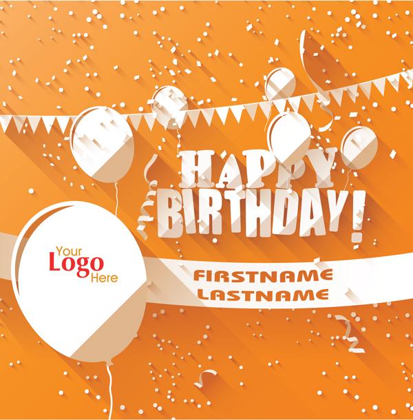 012 - Happy Birthday (orange)