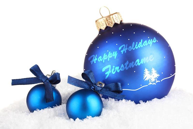 Snowy Blue Ornament