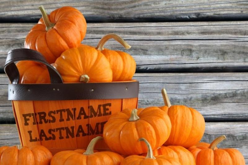 Oct - Pumpkin Basket