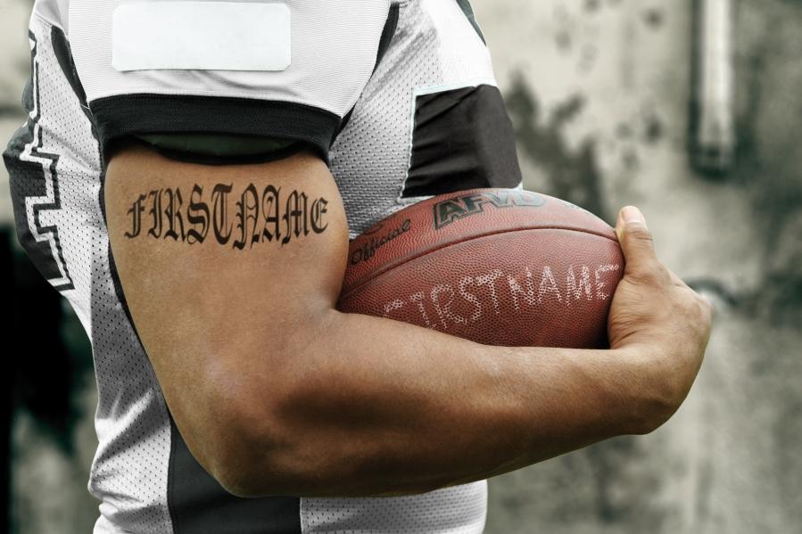Oct - Football Tattoo