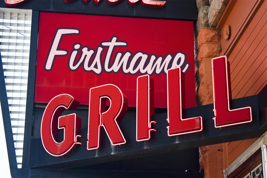 Restaurant Grill Sign