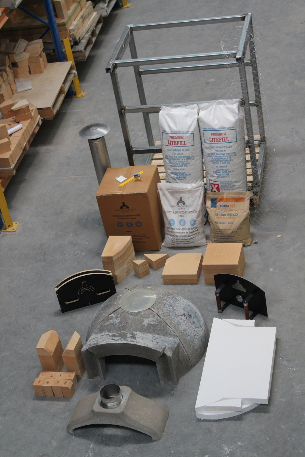 P85 Precast Wood Fired Oven Kit The Melbourne Fire Brick