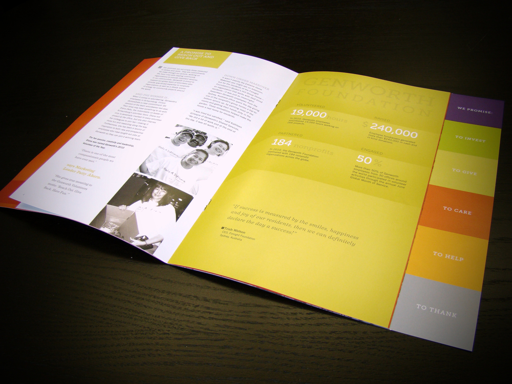 Genworth Foundation Annual Report Interior Spread