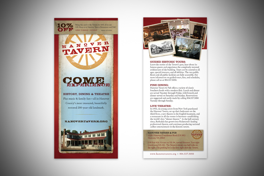Hanover Tavern Rack Card