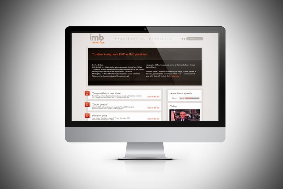 IMB President Elect Microsite UI Design