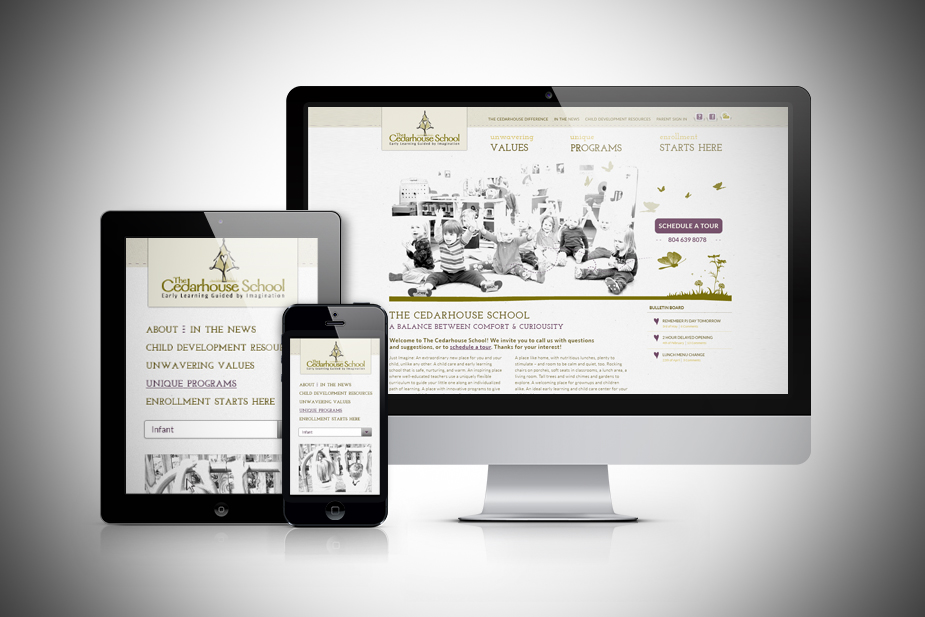 The Cedarhouse School Responsive UI Design