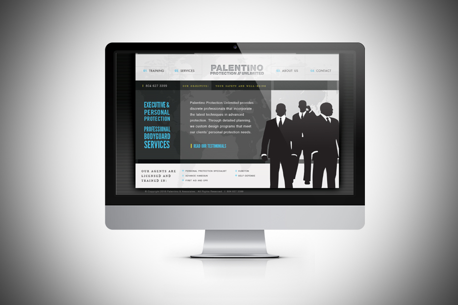 Palentino Protection Unlimited UI Design