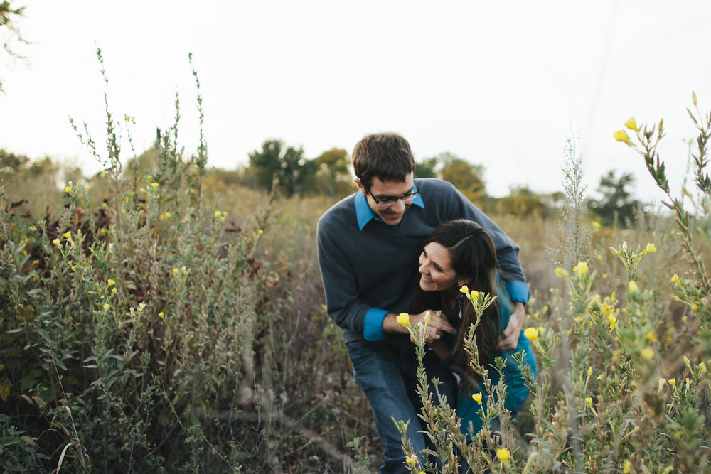 iowa engagement photo