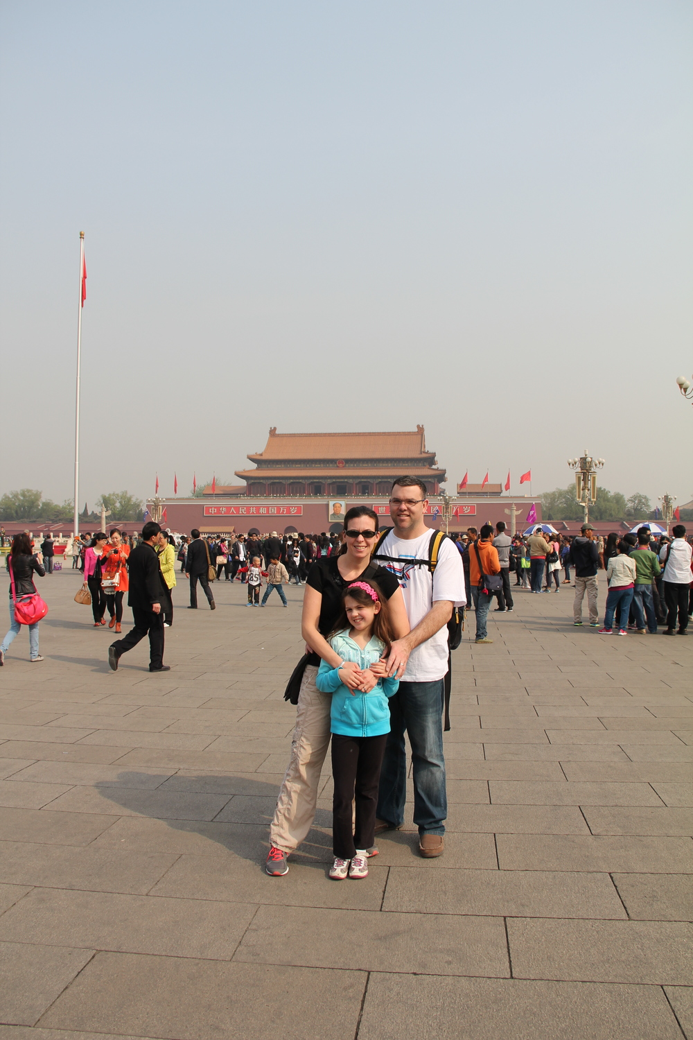 In Tiananment Square with half a million other people!