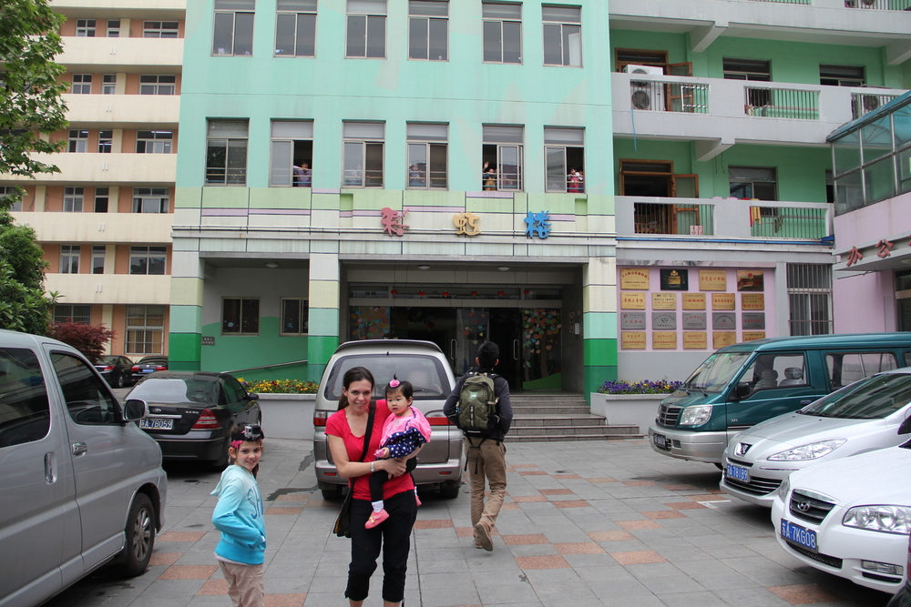 Outside her orphanage.  Yes, Abigail is wearing a Go Pro on her head.  She videotaped the entire tour.