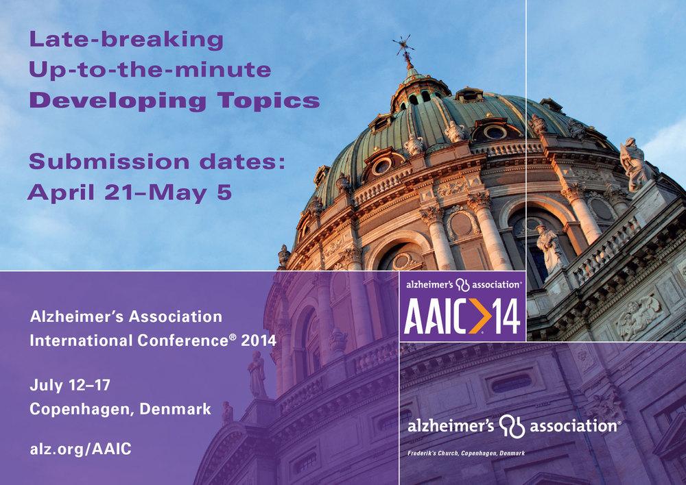 AAIC14 DEVELOPING TOPICS POSTCARD