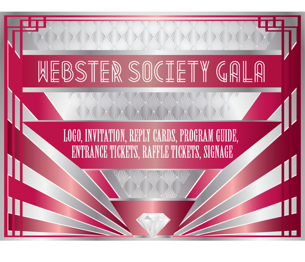 Webster Society Gala Brand Program