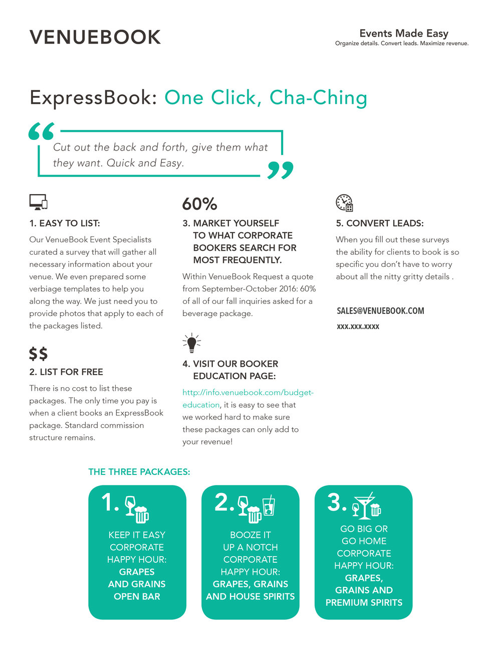 VENUEBOOK Cha-Ching Infographic