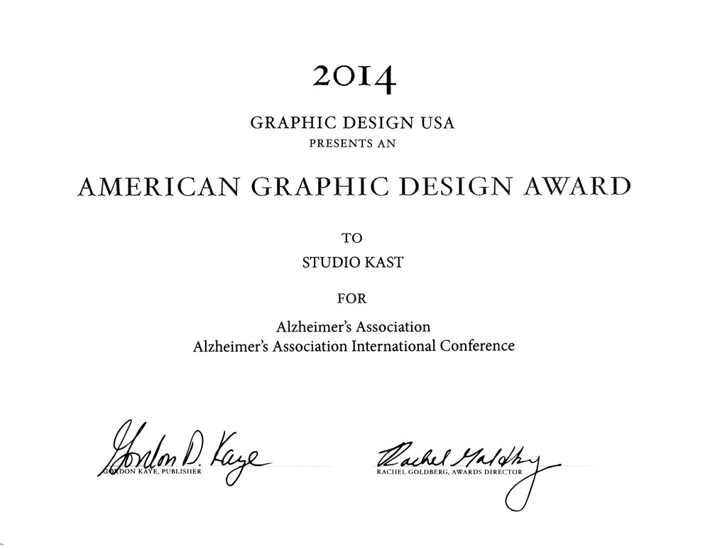 2014 American Graphic Design Award