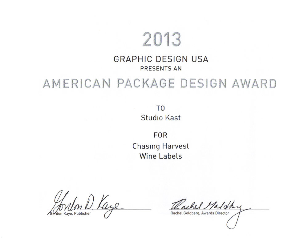 2013 American Package Design Award