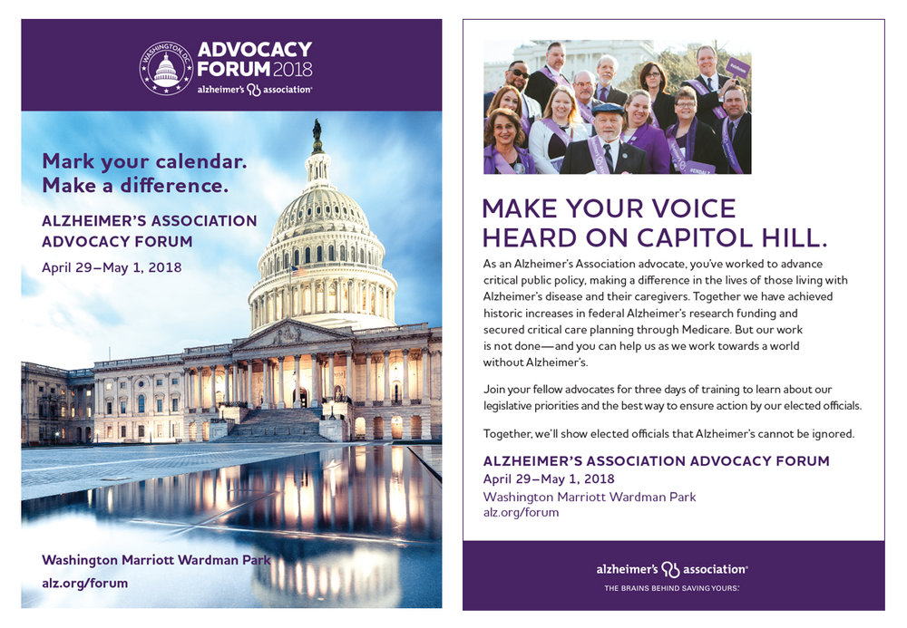 2018 Advocacy Forum Save the Date Postcard
