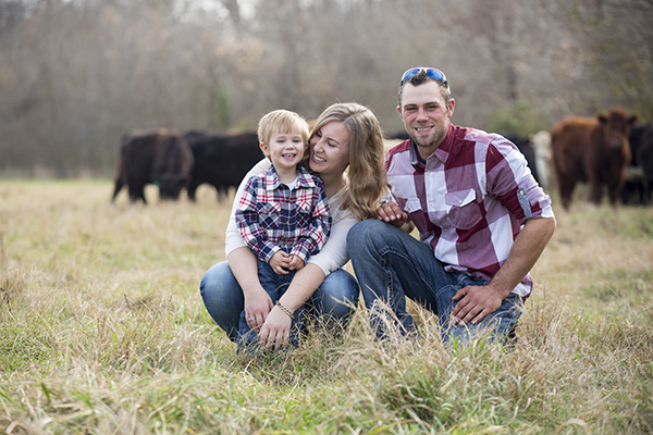 Matt, Jodi & Liam - our cousins - moved from the Midwest in late 2015 to join the Heritage Hollow Farms Family