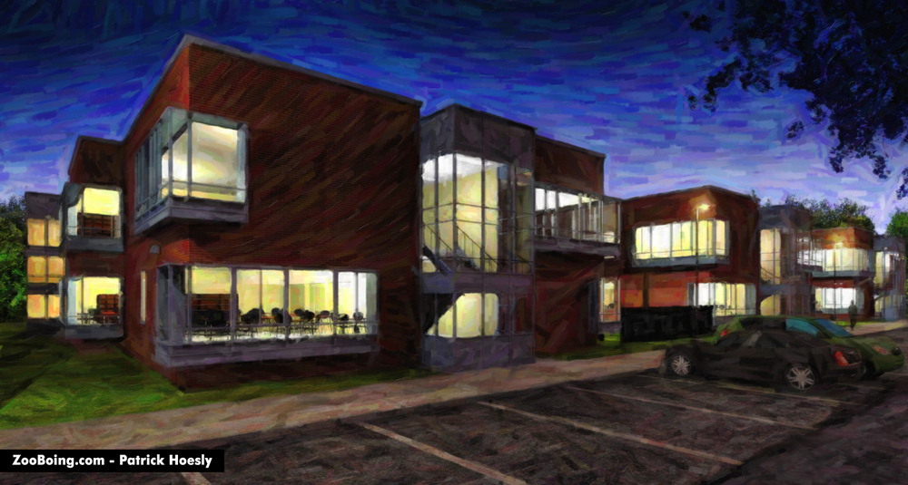 Exterior Night - School-Oil.jpg