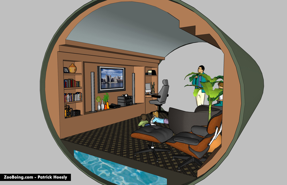 Underground Homes Interior Interior Underground Home 01