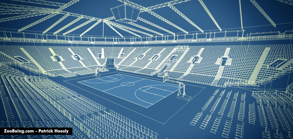 5 Basketball Arenas Zooboing Illustrations