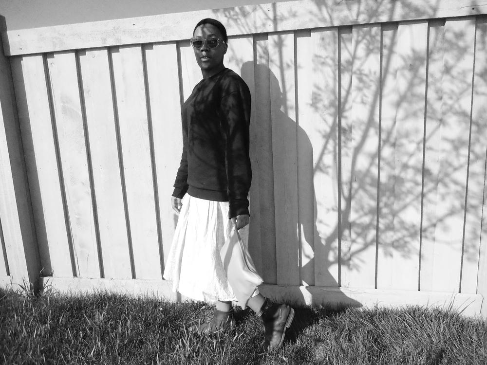 Dress - Vintage H&M Sweatshirt - American Apparel