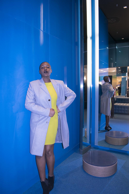 Dress - Topshop Jacket - Maison Martin Margiela Shoes - Senso
