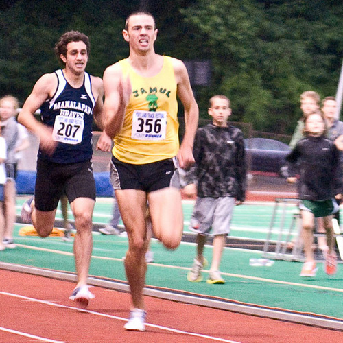 Future NCAA champions collide, as Mac Fleet (4:02.90) edges Robby Andrews (4:03.49)
