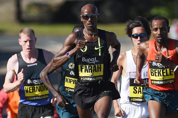 Mo Farah is ready to race in Edinburgh (image by Getty Images)