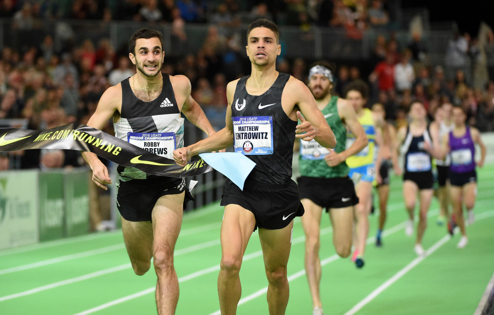 Matthew Centrowitz wins the men's 1500m title (Image of Sport)