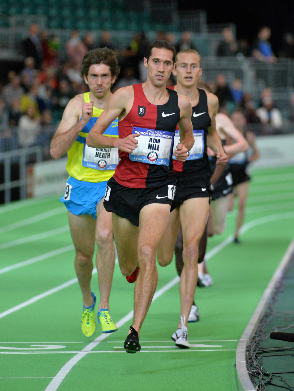 Ryan Hill wins the men's 3000m (Image of Sport)