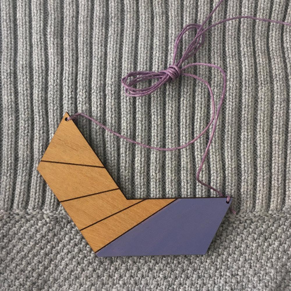 Chevron Stripe - Pastel Purple