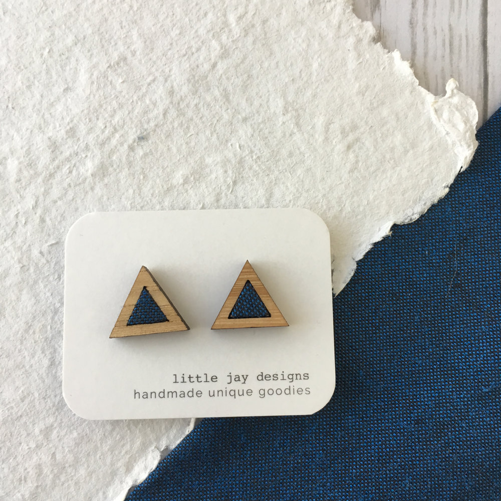 Blue/Black - Small Triangle