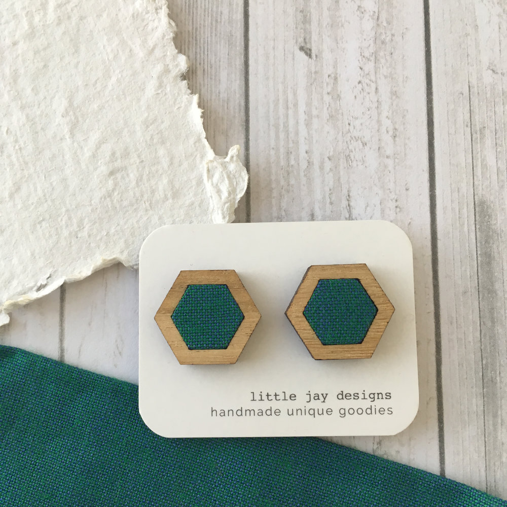 Green/Blue - Medium Hexagon