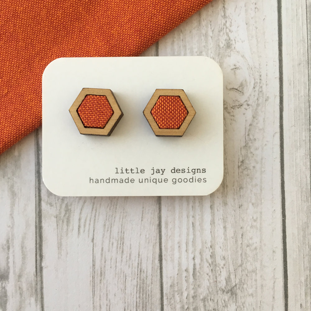 Orange/Red - Small Hexagon