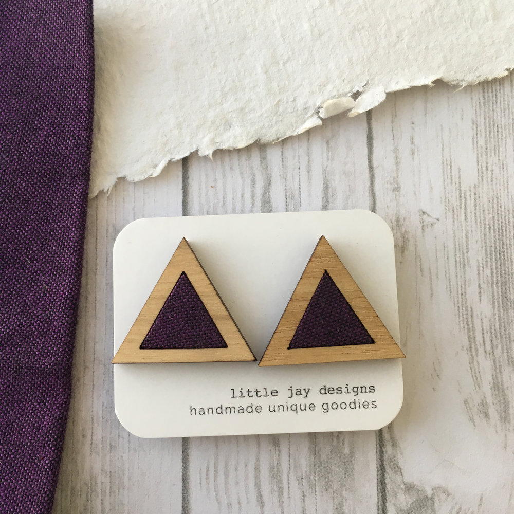 Purple/Black - Large Triangle