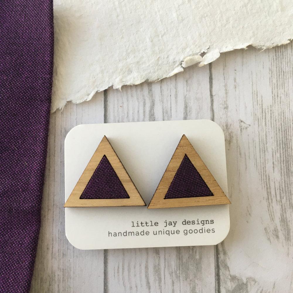 Purple/Black - Large Triangle