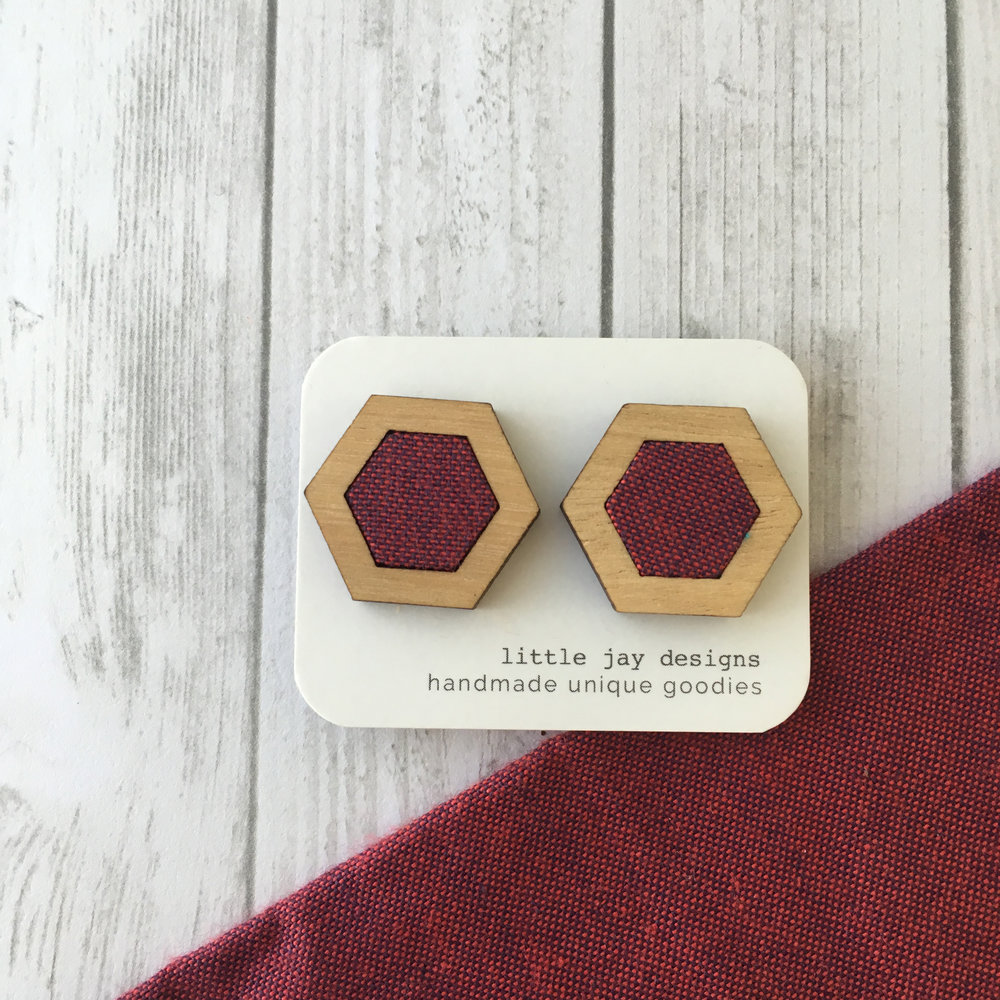 Red/Purple - Large Hexagon