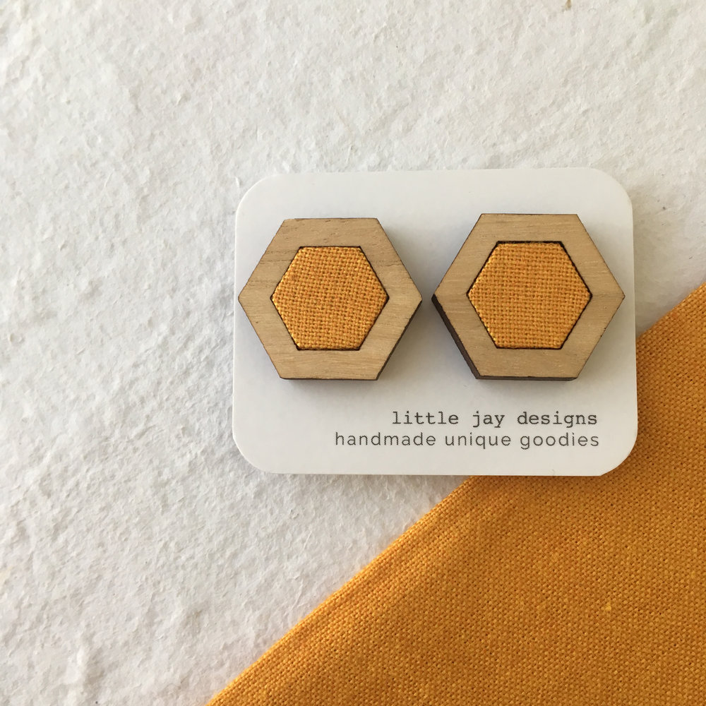 Yellow/Gold - Large Hexagon