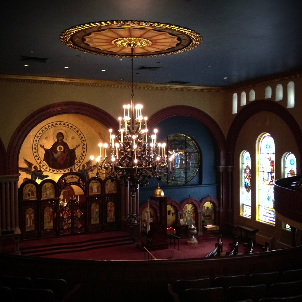 Interior of Baltimore's Greek Orthodox Cathedral of the Annunciation.