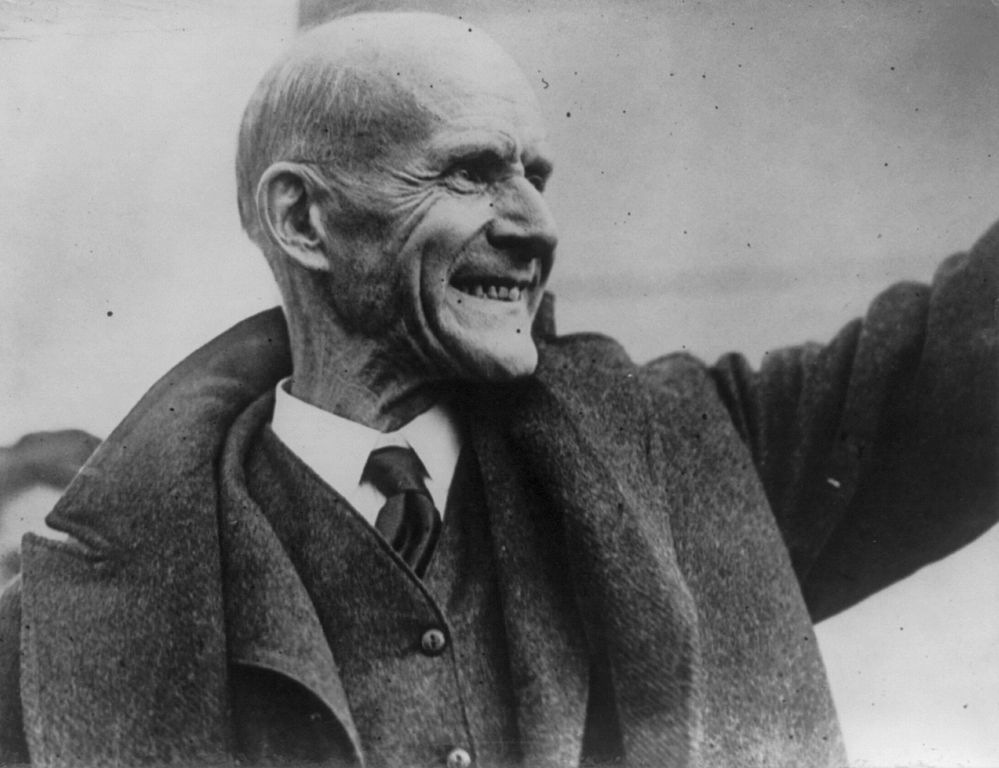 Eugene V. Debs, 1921. Image in the public domain, courtesy of Wikimedia Commons.