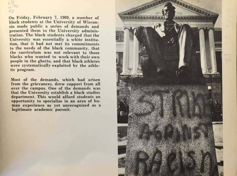 Anti-racist graffiti featured prominently in 1969, too.