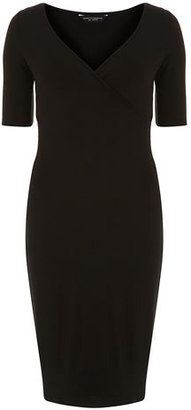1. Dorothy Perkins Black wrap tube dress